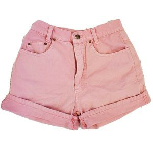 Vintage Mom Jean Shorts High Waisted Pink